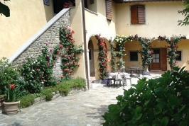 Patio agriturismo bij Arezzo