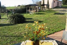 Garten mit Sitz