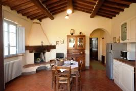 Wohnzimmer/Küche Wohnung Il Rosmarino