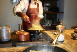 Kookcursussen en diners met chef Maurizio