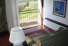 Uitzicht vanuit appartement Scoiattolo